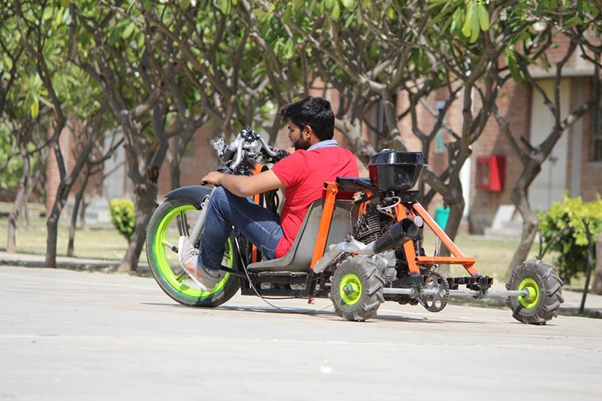 Modified Drift car made by Automobile Students